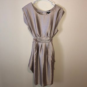 Warm Taupe Mini Dress